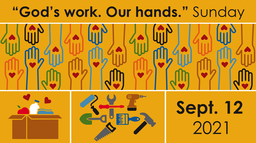 """""""God's work. Our hands."""" Sunday"""